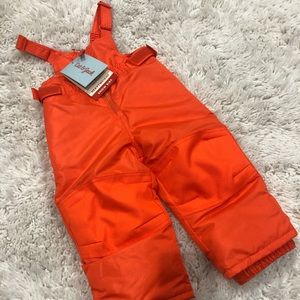 NWT Cat & Jack 18 Month Snow Bib Orange